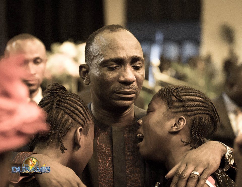 Dunamis pastor and his wife in tears after they healed twin sisters of insanity