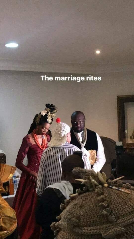 Photos from the traditional wedding of Donald Duke's daughter, Nela Duke