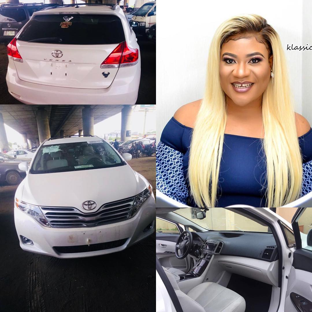 Actress Nkechi Blessing shows off her newly acquired Toyota Venza